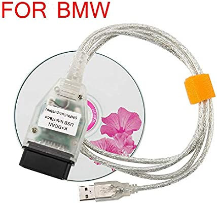 K+DCAN USB Interface INPA EDIABAS with Switch OBDII Diagnostic Cable For BMW RS1