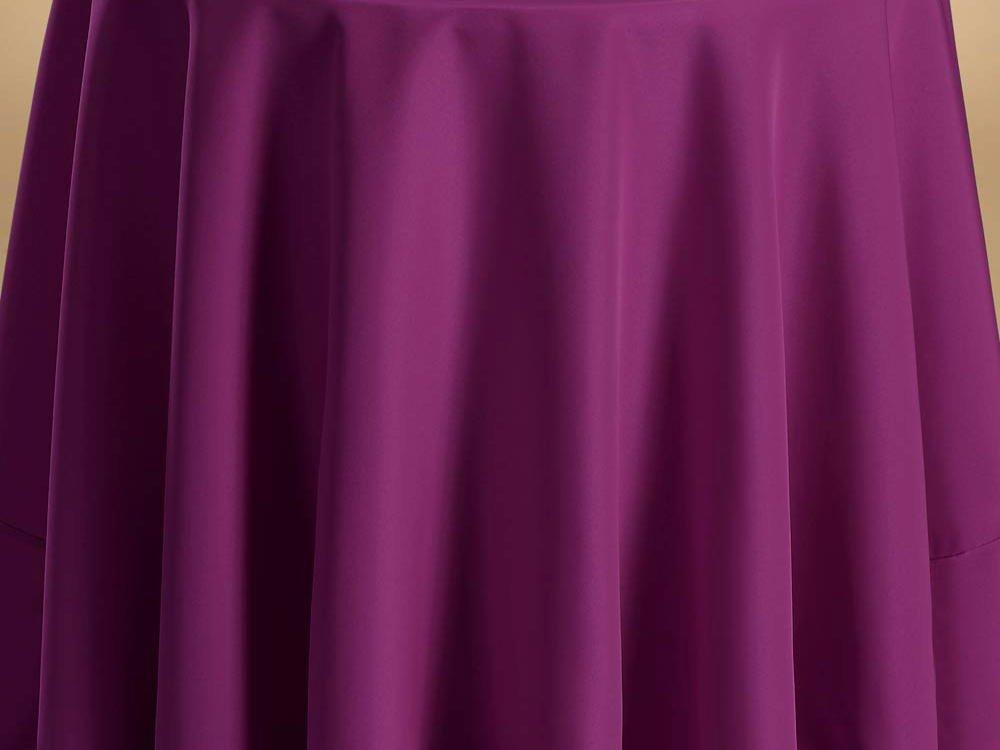 Bright Settings Fabric Sample - Flame Retardant Basic Polyester Solid Colors-Plum