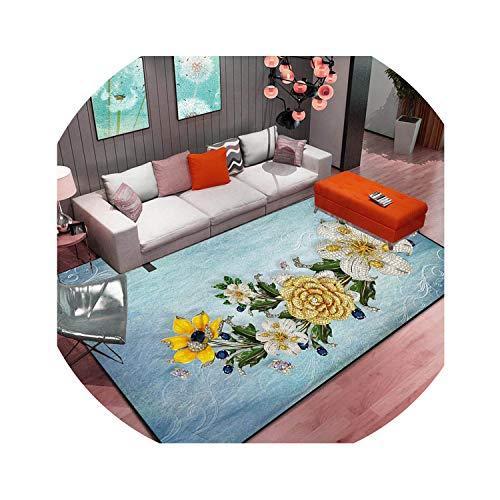 Abstract Flower Art Carpet for Living Room Bedroom Anti-Slip Floor Mat Fashion Kitchen Carpet Area Rugs,10,40 x 60cm