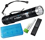 EagleTac Bundle D25LC2 Tactical 1374 Lumens Cree XM-L2 LED Flashlight, 1×18650 Rechargeable Battery, Nylon Holster,Mil-Spec Para-cord Lanyard, Spare O Rings, TradingBuzz Battery Case Review