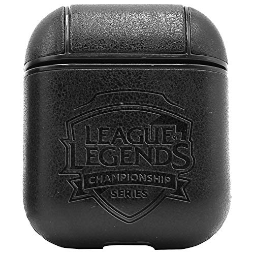 Esports League of Legends Championship Series (Vintage Black) Engraved Air Pods Leather Case - a New Class of Luxury to Your AirPods - Premium PU Leather and Handmade exquisitely by Master Craftsmen
