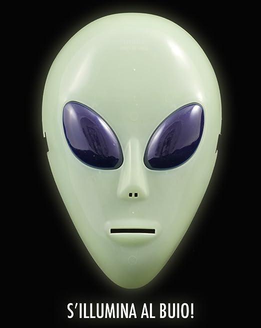 girm® – s7323 Máscara a diseño de extraterrestres fluorescente ...
