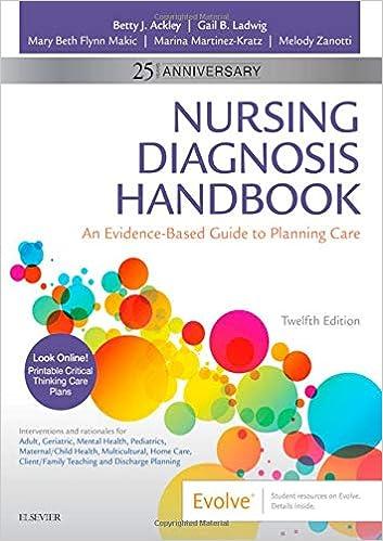 Nanda List 2020.Nursing Diagnosis Handbook An Evidence Based Guide To