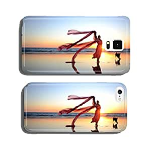 Woman is dancing on beach cell phone cover case iPhone5