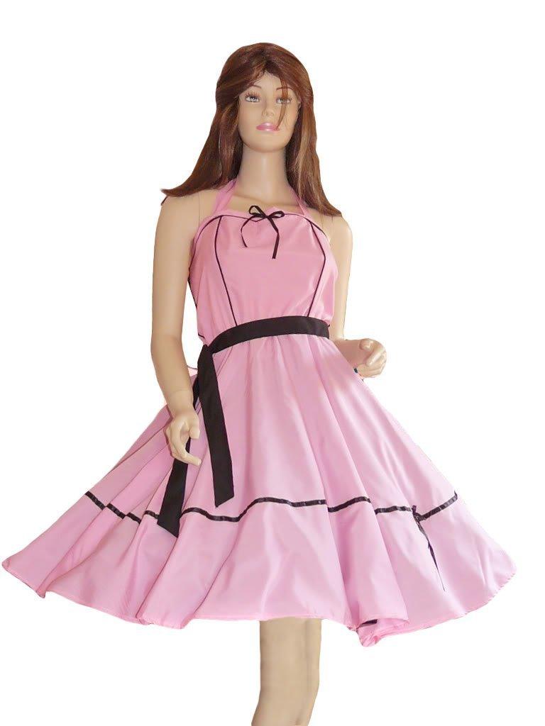 Kleid Kleider für Petticoat Petticoats Pettycoat 50er 60er schwarz rosa Gr. S und M K09