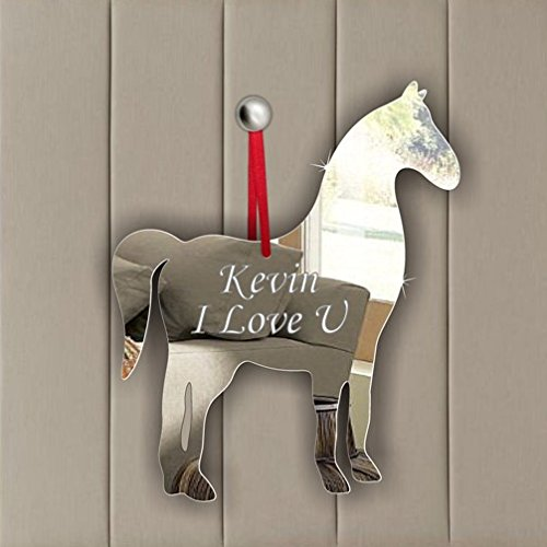 Horse Acrylic Mirror Ornament - Window Hanging - Ceiling - Door - Nursery - Children - Room Decoration Mirrors-interiors