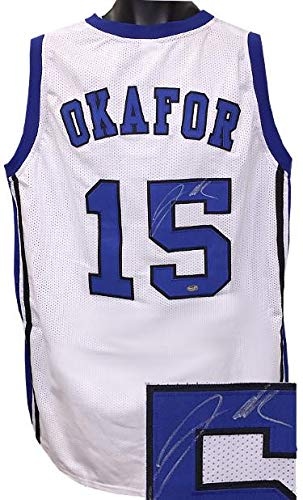 Jahlil Okafor Autographed Jersey - White Custom Stitched College Basketball  XL Letters Silver Sig)- 6ed209dd7