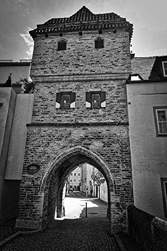 Home Comforts Peel-n-Stick Poster of Gate Historical Tower Old Historic Town Entrance Vivid Imagery Poster 24 x 16 Adhesive Sticker Poster Print