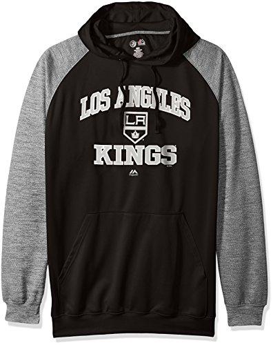 Profile Big & Tall NHL Los Angeles Kings Men's B&T Poly Fleece Hoodie, 5X, Black/Charcoal