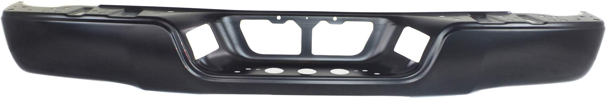 Step Bumper Face Bar Compatible with 2007-2013 Toyota Tundra Black Steel with Rock Warrior Pkg Fleetside