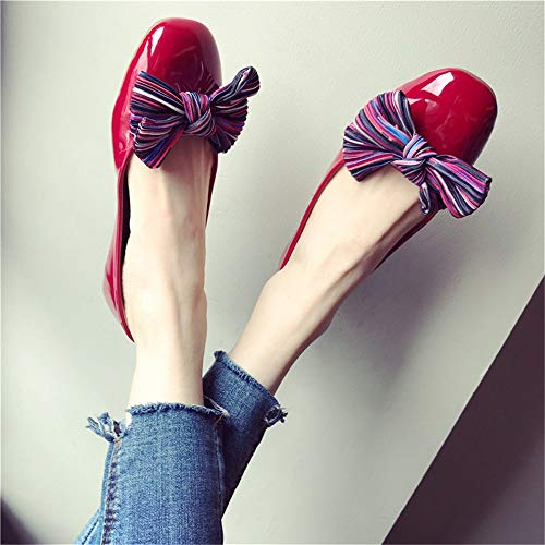 bow single pregnant EU casual flat women Women's fashion work shoes 39 comfortable office FLYRCX shoes shoes shoes xw1q7Yav