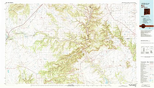 YellowMaps Roy NM topo map, 1:100000 Scale, 30 X 60 Minute, Historical, 1981, Updated 1982, 24.1 x 42.1 in - ()