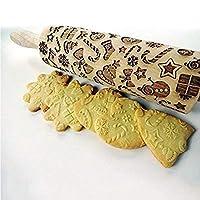Soulitem Motif gaufrage Rouleau à pâtisserie pour DIY de Cuisine Pain d'épices Cookies