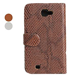 ZCL Fish Skin Style PU Leather Case for Samsung i9220 (Assorted Colors) , Red