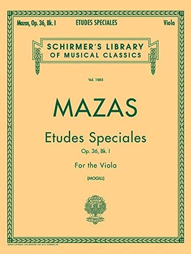 Etudes Speciales, Op. 36 - Book 1: Viola (Etudes Book)
