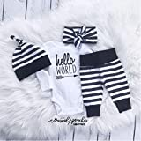 Hello World Infant Coming Home Outfit/Gender Neutral Newborn Outfit/Gender Reveal/Pregnancy Announcement/Baby Shower Gift/Hospital Coming Home Outfit