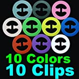 10 pcs x Cleavage Control Magic Bra Clips (10 Different Colors)