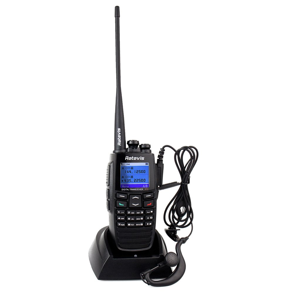 Retevis RT2 DPMR VHF/UHF Digital/Analog 5W Two Way Radio with GPS