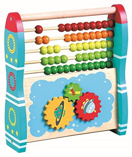 0b85da0240ef1 LELIN Wooden 2 in 1 Abacus Rocket Childrens Kids Learning Number Abacus