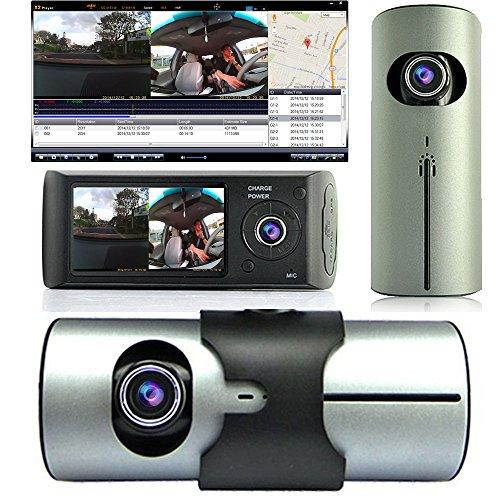 """Indigi Dash Cam 2.7"""" TFT LCD Dual Camera Lens Car DVR IR Nig"""
