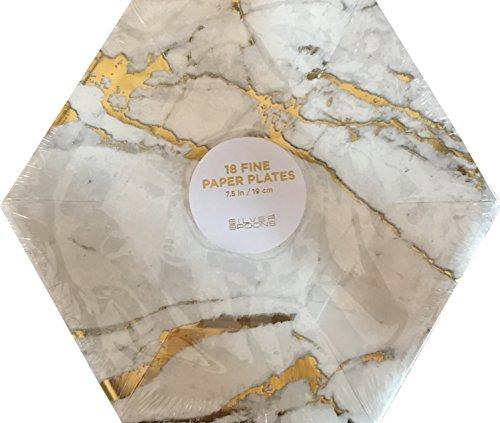 18-count Elegant Marble Hexagon Large 7.5