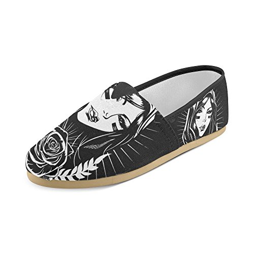 InterestPrint Zombie Loafers Casual Shoes For Men Women Nice Woman RdmPieixM