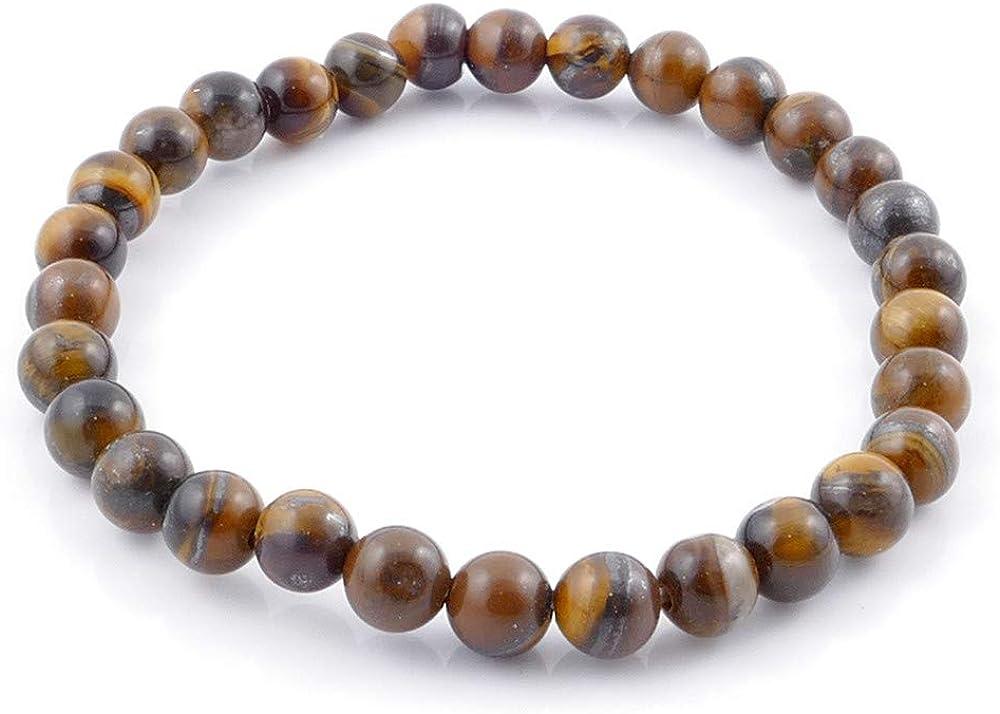 ARITZI – Pulsera elástica con Bolitas de Piedras en Distintos tamaños y en Distintas Piedras