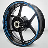 Suzuki GSXR 1000 Matte Blue Motorcycle Rim Wheel Decal Accessory Sticker