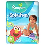 Pampers Splashers Disposable Swim Pants Diapers Size 5, 22-Count (Old version)