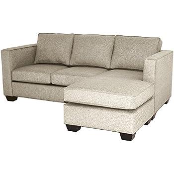 Amazon.com: Catalina Reversible Chaise Sofa, Straw: Kitchen ...