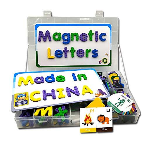 [해외]마그네틱 글자 182개입 자석 보드와 대용량 저장 박스 ABC 글자 장난감 세트 어린이용 재미있는 알파벳 폼 자석 아이들을 위한 인식 세트 / X-Furpartoy 182 Pcs ABC Fridge Magnetic Childrens Letters Set with Magnetic? Whiteboard, Magnetic Al...