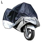 Docooler Motorcycle Bike Moped Scooter Cover Waterproof Rain UV Dust Prevention Dustproof Covering (L)