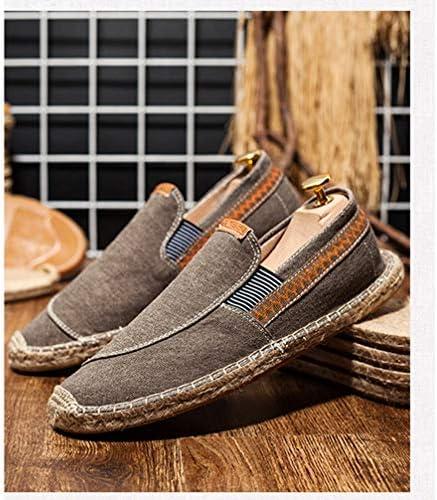 キャンバス シューズ スリッポン メンズ カジュアル ローファー エスパドリーユ ローカットフラット 滑り止め 履き脱ぎやすい 通学 海辺 私服 職場用 事務所 通気抜群 蒸れない 夏 布靴 かっこいい 麻靴