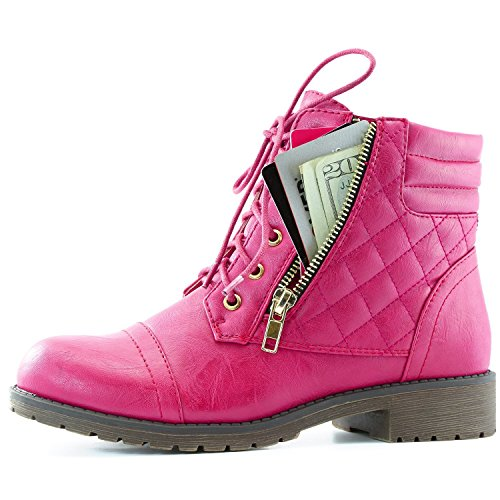 Daily (Lace Up Pink Boots)