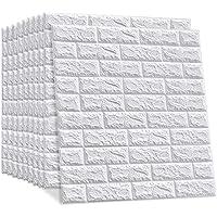 10 stuks 3D-baksteenbehang, zelfklevende wandpanelen, steenlook, behang, waterbestendig, baksteen, wandtattoo, doe-het…