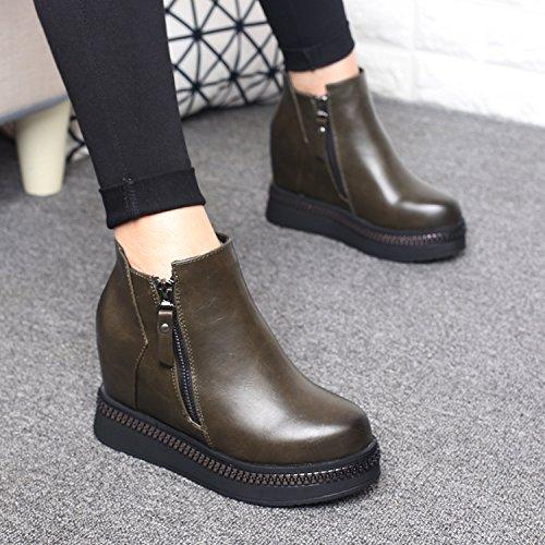 GTVERNH-il pendio con gli stivali e degli stivali col tacco alto a fondo rotondo spessa martin stivali fondo donne inverno muffintrentottoverde