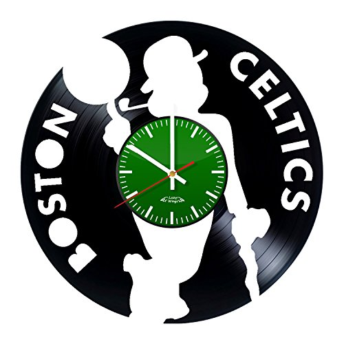 Lazy Wings NBA Team Logo Design Vinyl Record Wall Clock - Gift Idea for his or her - Contemporary bedroom wall art - 12 Nba Inch Figures