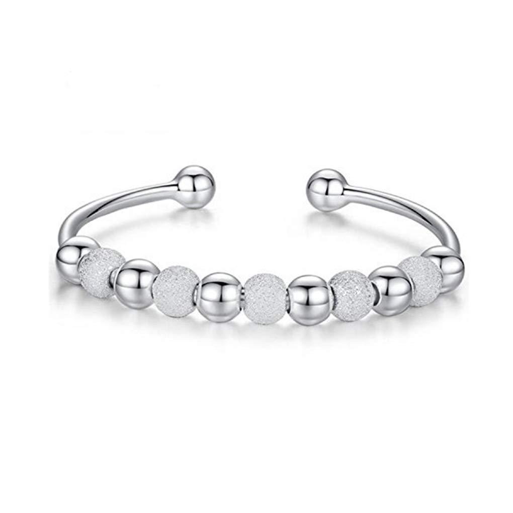 Bobury Perle rotonde rimovibili eleganti regolabile Open Design di Lucky Fortune braccialetto per i regali di compleanno