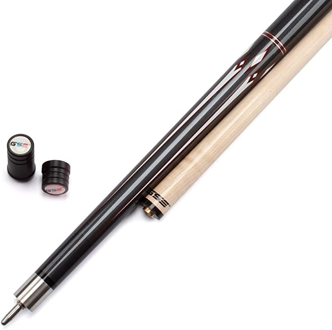4 Colors, 18-21oz GSE Games /& Sports Expert 58-Inch 2-Piece Hardwood Canadian Maple Billiard Pool Cue Stick with Metallic Paint Finish