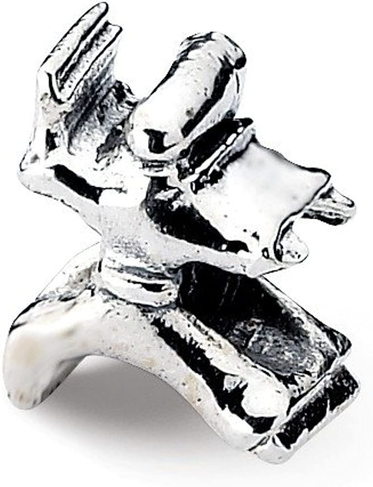 Jewelry Adviser Beads Sterling Silver Reflections Karate Person Bead