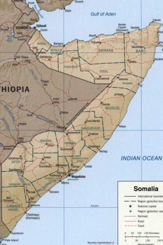 A Map of Somalia: Blank 150 page lined journal for your thoughts, ideas, and inspiration