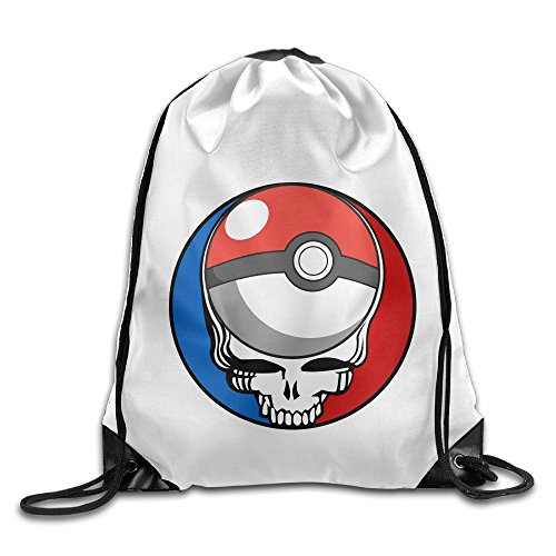 Price comparison product image CEDAEI Mobile Game Cartoon Japan Grate Dead Drawstring Bags Traveler White Backpack Sport Bag For Men & Women School Travel Backpack For Teens College