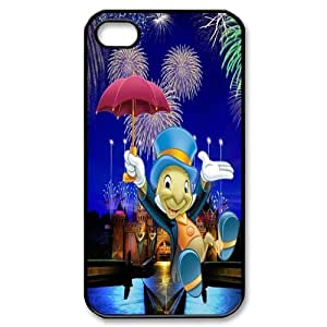 Popular Jiminy Cricket Iphone 4 Or 4S Personalized design Best Rubber+PVC Case By Cinderella Magic