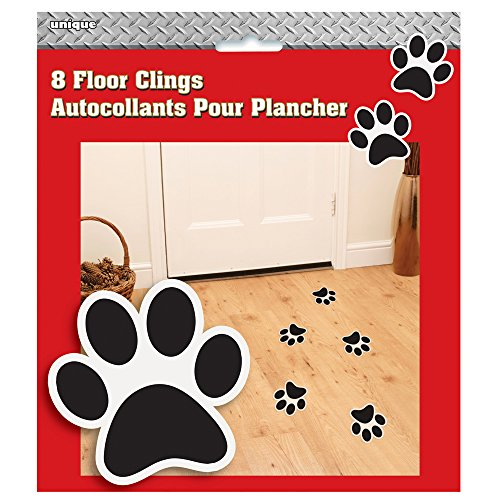 Fire Truck Birthday Paw Print Floor Clings, 8ct (House Supplies Fire Party)