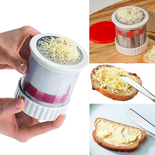Cheese Grater, Ikevan Spinning cheese grater, Stainless Steel Grater Wire Cheese Cutter Slicer Chocolate - Noodle Mandolin