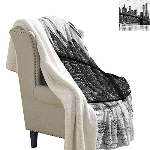 (Acelik Baby Blanket Modern Brooklyn Bridge Sunset Upgraded Thick Lazy Blanket Blanket W59 x L47)