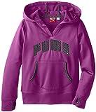 PUMA Big Girls' Logo Popover Hoodie, Purple Belle, Medium
