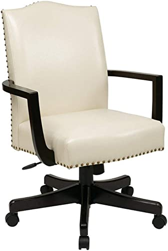 OSP Home Furnishings Morgan Managers Chair, Cream
