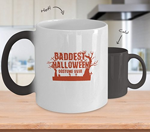 Color Changing Mug Not Scary Baddest Halloween Costume Ever Funny Heat Colour Change Mug Gift ()