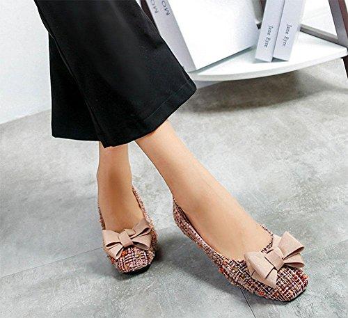 planos arco moda planos Zapatos zapatos mujer de cuadrados 2 zapatos KUKI dulce xF57XSqpn